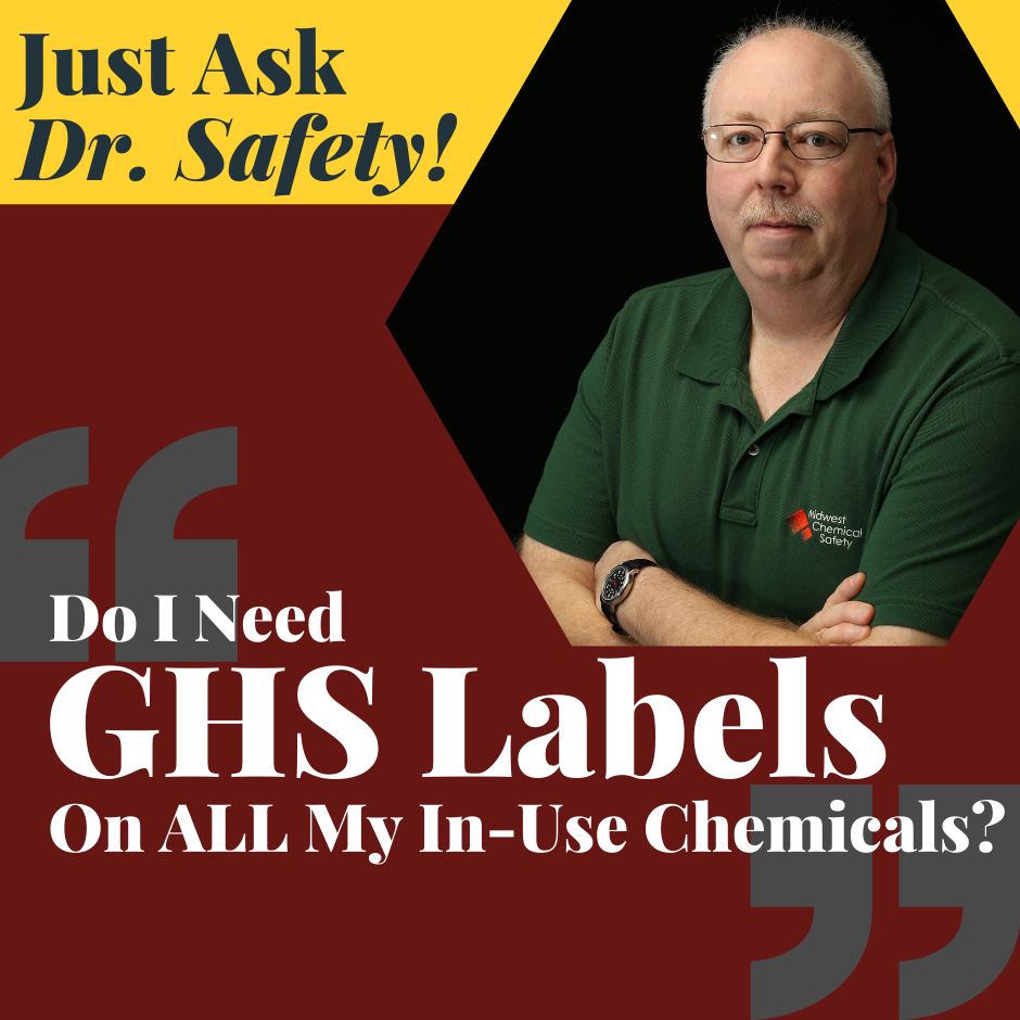 GHS-type labels and Laboratory Chemicals